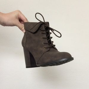 Heeled Lace Up Booties NWOT